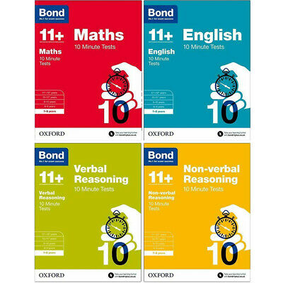 Bond 11+English Verbal Reasoning Assessment Papers 9-10 years 4 Books Set BRAND