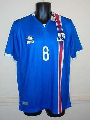 6e4c4777a Iceland Home Shirt 2016-2017 GEORG 8 large men s New With Tags  1260
