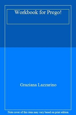 Workbook for Prego! by Lazzarino  New 9780077382513 Fast Free Shipping..