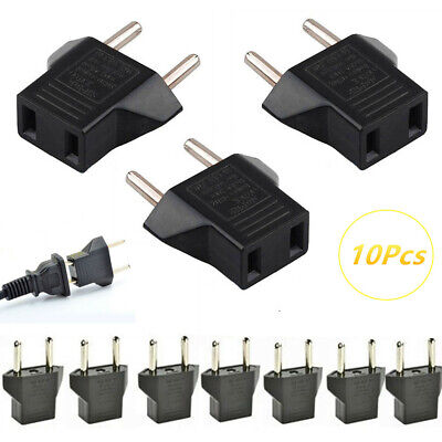 10pcs US To EU Plug Outlet Travel Charger Power Socket Adapter USA to Europe