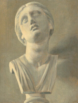 Van Weyenbergh Family Portfolio - Early 20th Century Oil, Classical Female Bust