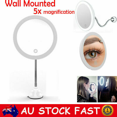 16 LED 5x Magnifying Makeup Cosmetic Beauty Shaving Bathroom Mirror Wall Mounted