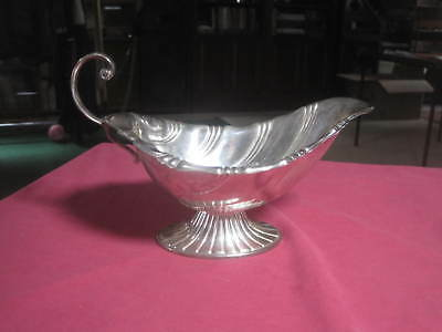 Vintage 1847 Rogers Bros Silver Plate I/S Neptune Pedestal Gravy Sauce Boat 9313