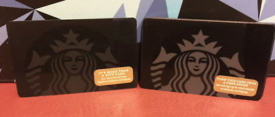 Lot of 5 Starbucks 2014 and 2017 Black Mermaid Gift Cards New with Tags