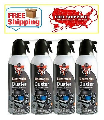 Falcon Dust-Off Compressed Gas Duster 10oz., 4 Pack