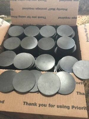 """NEOPRENE RUBBER DISCS 1/8"""" Thick 2""""1/2"""" Round Flat Rate Box Just Stuff"""