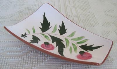 """Stangl Pottery Hand Painted Thistle 11"""" Relish Tray #3847"""