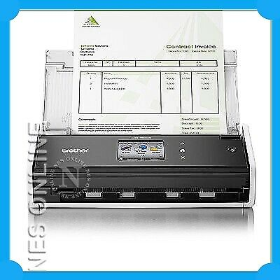 Brother ADS-1600W Compact Wi-Fi Document Scanner /w Touchscreen+ADF *RFB*
