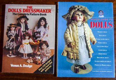 "2 Extra Large Doll Books ""World Guide to Dolls"" & ""The Dolls Dressmaker"""