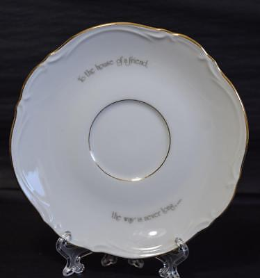 """Vintage HOLLY HOBBIE China SAUCER Replacement """"To the house of a friend"""" Pattern"""