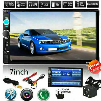 """New 7"""" 2 Din Touch Screen Car MP5 Player Bluetooth Stereo FM Radio USB/TFAUX In"""