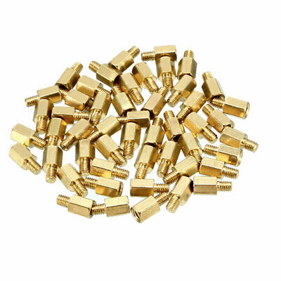46pcs M3 6+4mm Female Male Thread Brass Hex Standoff Spacer Screws PCB Pillar