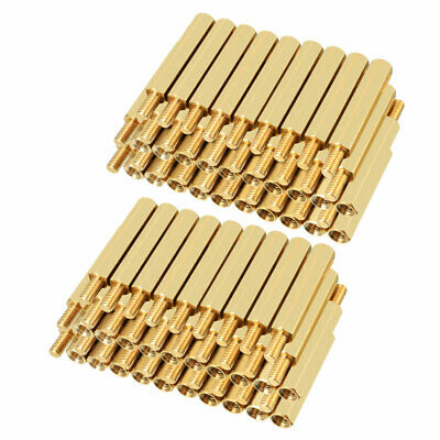 100pcs M3 26+6mm Female Male Thread Brass Hex Standoff Spacer Screws PCB Pillar