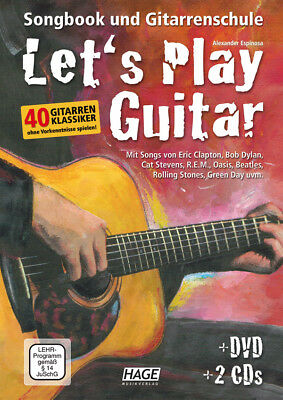 Edition Hage Let's play Guitar Band 1 - mit DVD und 2 CD's