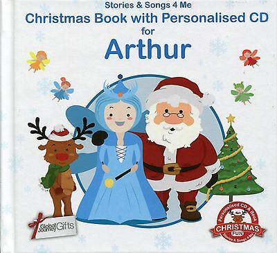 Christmas Book With Personalised Cd For Arthur - Stories & Songs 4 Me
