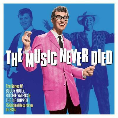 The Music Never Died Buddy Holly Richie Valens Big Bopper 3 CD Boxset 75 Tracks