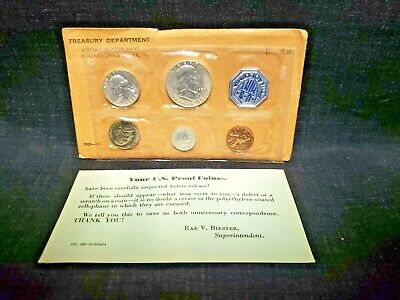 Uncirculated 1959 United States Proof Mint Set Coins in US Philadelphia Wrap #2