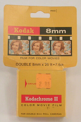 Kodak Kodachrome II Double 8mm Color Film for Movies Exp. Jan 1973 Daylight Use