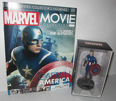 Eaglemoss Marvel Movie Collection Issue #3 Captain America Figure With Magazine