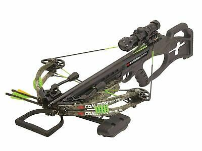 New 2019 PSE Coalition Camo Compound Hunting Crossbow 380FPS Cocking Rope Quiver