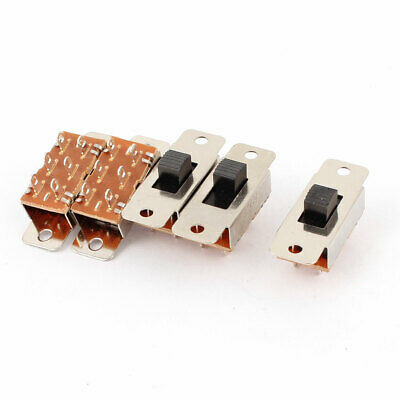 5pcs PCB DIY DPDT 3 Position Mini Slide Switch AC 250V 3A 125V 6A
