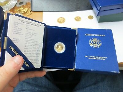 1994-W $5 PROOF Gold American Eagle (1/10 ozt) w/ Box & COA