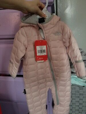 6390f6b43 THE NORTH FACE Pink 6-12 mos Infant Girls Thermoball Bunting ...