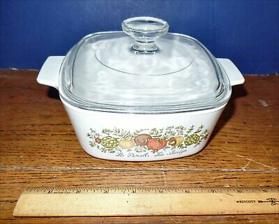 """Vintage Corning Ware Spice of Life A-1.5 B """"Le Persil La Sauge"""" Dish w/Lid"""