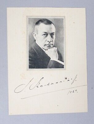 Estate Found Signed Portrait Russian Composer Sergei Rachmannanoff Autograph