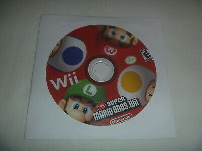 New Super Mario Bros Wii (2009) Nintendo Wii (Game Disc Only) No Case Or Manual