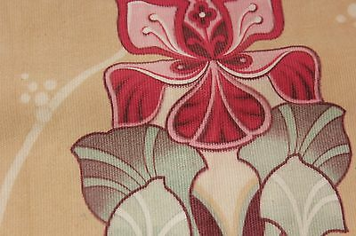 Fabric Antique French Art Nouveau design printed cotton 85 by 30 inches wide