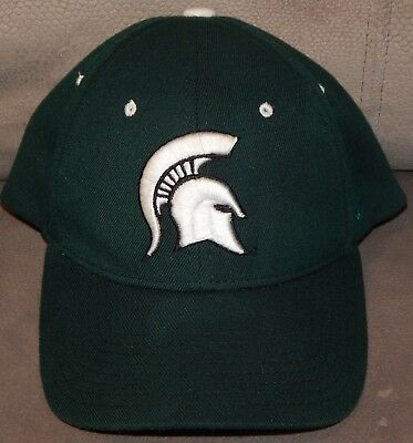 reputable site 4a0a1 170d8 Zephyr Z Fit Michigan State Spartans MSU Logo Fitted Stretch Hat Cap Adult  XL