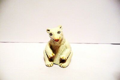 "Thimble Handpainted Pewter Tcc's The Thimble Zoo Collection ""Polar Bear"" Htf"