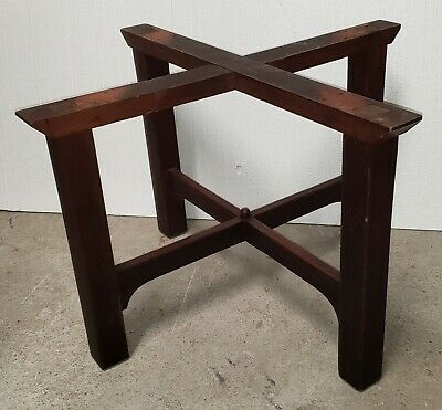 "Stickley 46"" Mission Oak table base only original finish as-is"