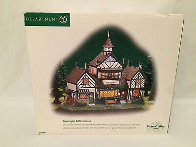 Department 56 Dickens' Village Series Burwickglen Golf Clubhouse