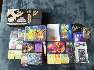 Lot De 70 Cartes Pokemon + 5 Boosters + Accessoires Voir Photos + Description