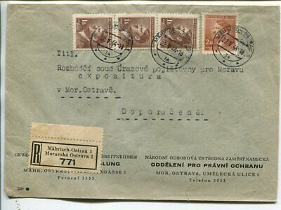 Germany Bohemia and Moravia reg cover 1944
