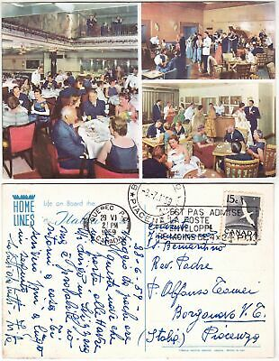 "Navi - Home Lines  Life On Board The M/S ""Italia"" - Viagg. 1959 -33182-"