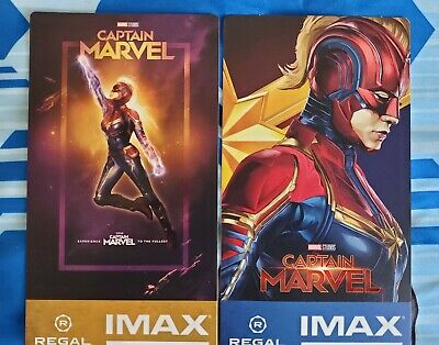 Captain Marvel Week 1&2 Regal IMAX Collectible Movie Ticket Lot.