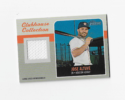 JOSE ALTUVE 2019 TOPPS HERITAGE BASEBALL CLUBHOUSE COLLECTION JERSEY Astros