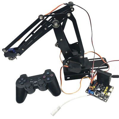 Stainless Steel 4-DOF Remote Control Robot Arm Kit w/ Servo for Arduino