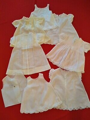 Lot 8 pc Vintage Baby Clothes 1950s Feltman Bros Dolls Phillipines