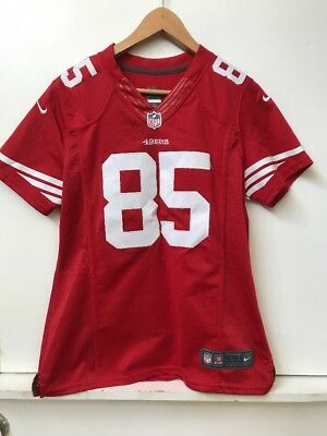4a44df0b1c1 NFL On Field San Francisco 49ers Davis  85 Sewn Jersey Red Nike Youth L  Large