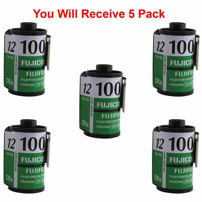 5x Rolls Fuji 100 35mm Film CN 135-12 Exp Color Print Fujicolor