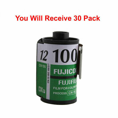 30 Rolls Fuji 100 35mm Film CN 135-12 Exp Color Print Fujicolor Tested Exp 2010
