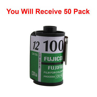 50 Rolls Fuji 100 35mm Film CN 135-12 Exp Color Print Fujicolor Tested Exp 2010