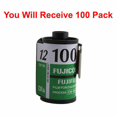 100 Rolls Fuji 100 35mm Film CN 135-12 Exp Color Print Fujicolor Tested Exp 2010