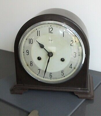 Vintage Smiths Bakelite Mantel Clock - 8 Day - With Key