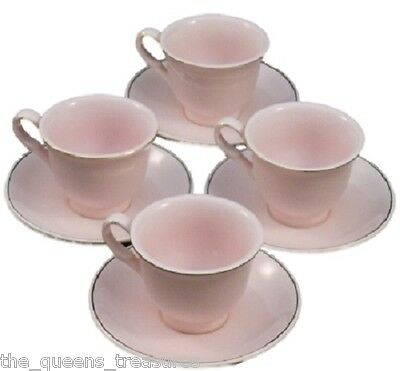 Princess Pink Child Size Fine China Teacups & Saucers, for Children FACTORY 2ND!