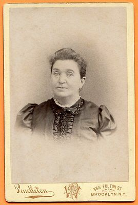 Brooklyn, NY, Portrait of a Woman, by Pendleton, circa 1890s Backstamp